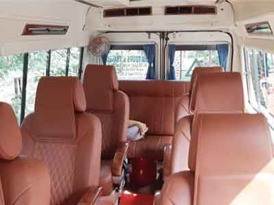 6 1x1 seats with bed deluxe tempo traveller hire in delhi